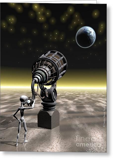 Watcher Greeting Cards - The Watcher Greeting Card by Sandra Bauser Digital Art
