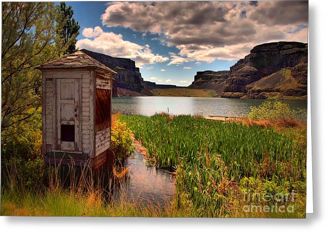 Shed Greeting Cards - The Water Shed Greeting Card by Tara Turner