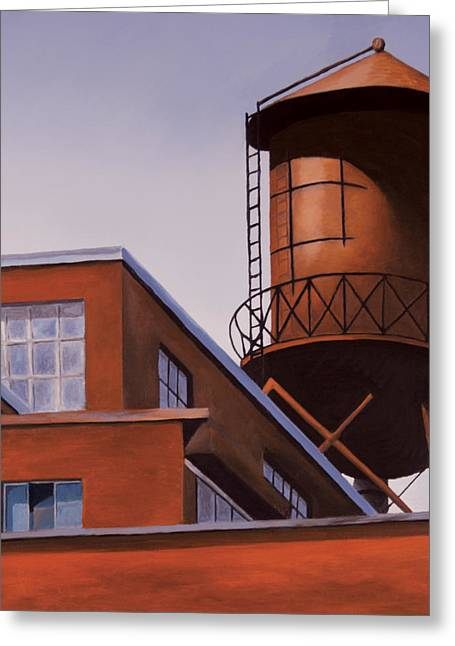 Montreal Urban Landscapes Greeting Cards - The Water Tower Greeting Card by Duane Gordon