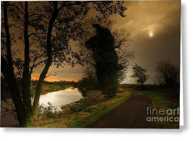 Kim Mixed Media Greeting Cards - The Water Trail Greeting Card by Kim Shatwell-Irishphotographer