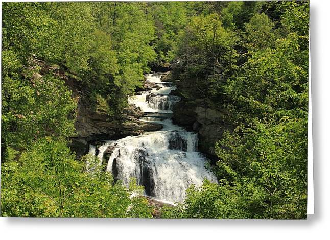 Franklin Farm Greeting Cards - The Waterfall Greeting Card by Marx Broszio