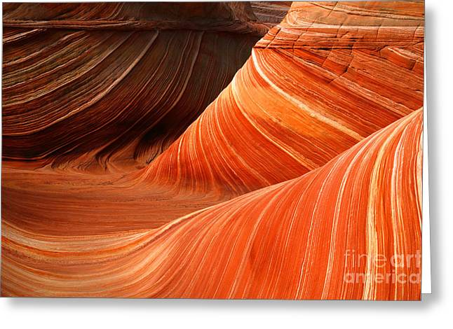 The Butte Greeting Cards - The Wave Greeting Card by Keith Kapple