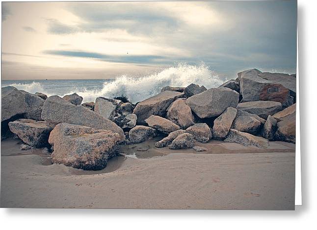 Beach Photograph Greeting Cards - The Wave Greeting Card by Nastasia Cook