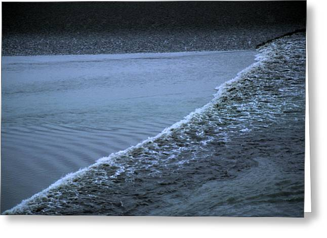 Portage Photographs Greeting Cards - The Wave Of A Bore Tide Traveling Greeting Card by Stacy Gold