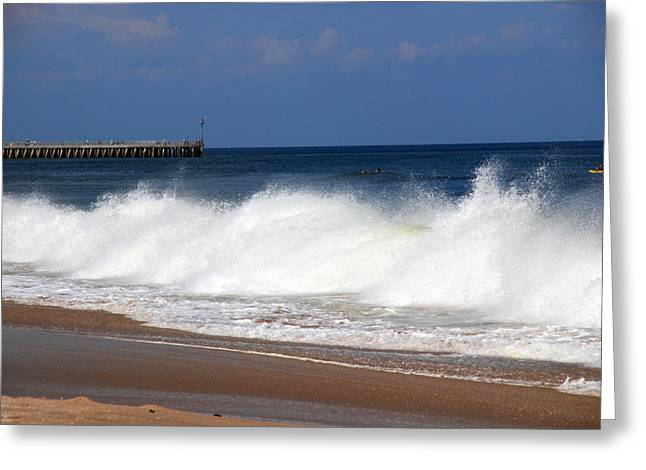 Florida House Greeting Cards - The Wave Greeting Card by Susanne Van Hulst