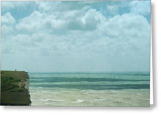 the waves bellow us Greeting Card by Paul Grand
