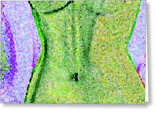 Abstract Expression Greeting Cards - The Way She Moves 3 Greeting Card by Angelina Vick
