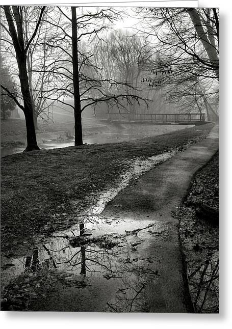 Stream Framed Prints Greeting Cards - The Way There Greeting Card by Steven Ainsworth