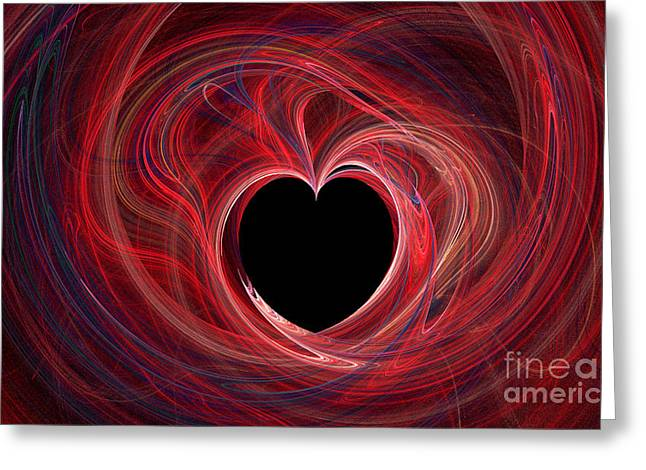 Digital Artery Greeting Cards - The Way to my Heart Greeting Card by Kaye Menner