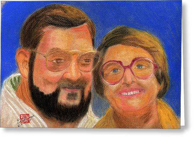 People Pastels Greeting Cards - The Way We Were in 75 Greeting Card by Arlene  Wright-Correll