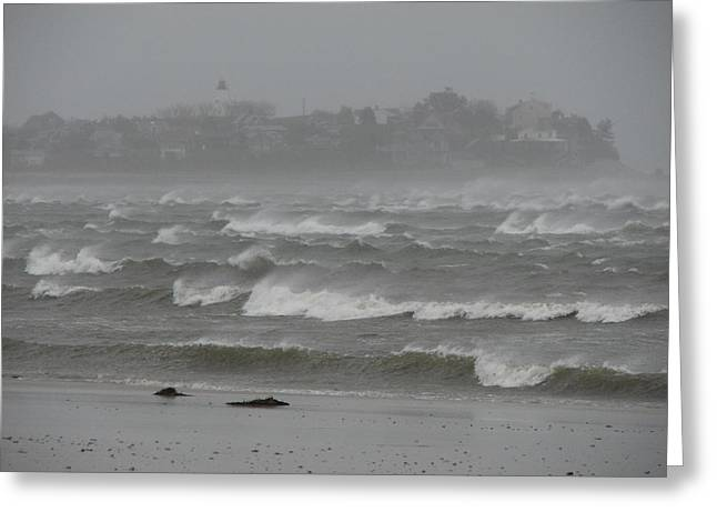 Best Sellers -  - Storm Clouds Cape Cod Greeting Cards - The Weather Started Getting Rough Greeting Card by Brian Mazzoli