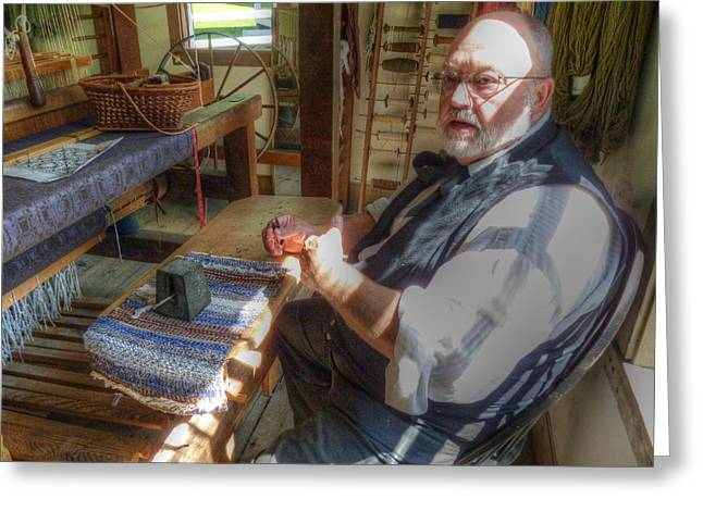 Loom Digital Art Greeting Cards - The Weaver Greeting Card by Robert Nelson