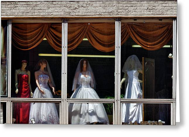 Bridal Gown Greeting Cards - The Wedding Greeting Card by Robert Ullmann