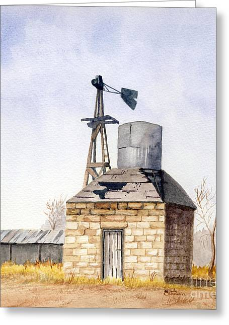 Outbuildings Greeting Cards - The Wellhouse Greeting Card by Sandy Campion