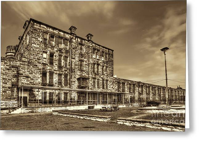 The West Virginia State Penitentiary Backside Greeting Card by Dan Friend