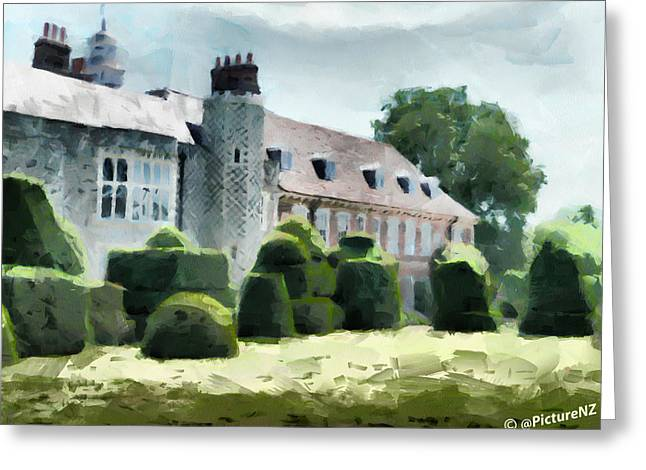 Historic Home Greeting Cards - The West Wing of Historic Hall Place  Greeting Card by Steve Taylor