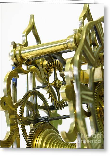 The Wheels Of Time Greeting Card by John Chatterley