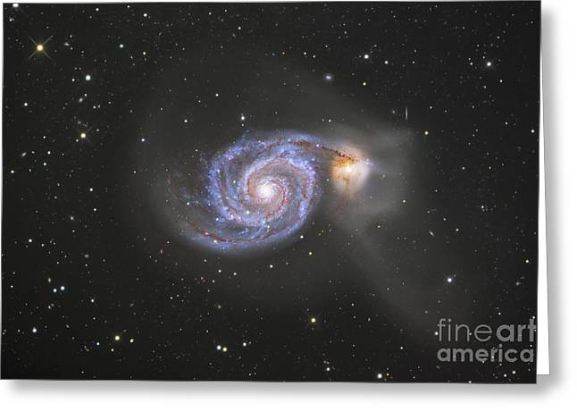 Colliding Greeting Cards - The Whirlpool Galaxy Greeting Card by Robert Gendler