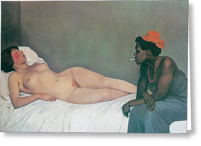 Vallotton Greeting Cards - The White and The Black Greeting Card by Felix Vallotton