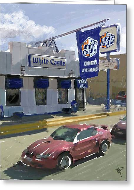 French Fries Greeting Cards - The White Castle Greeting Card by Russell Pierce