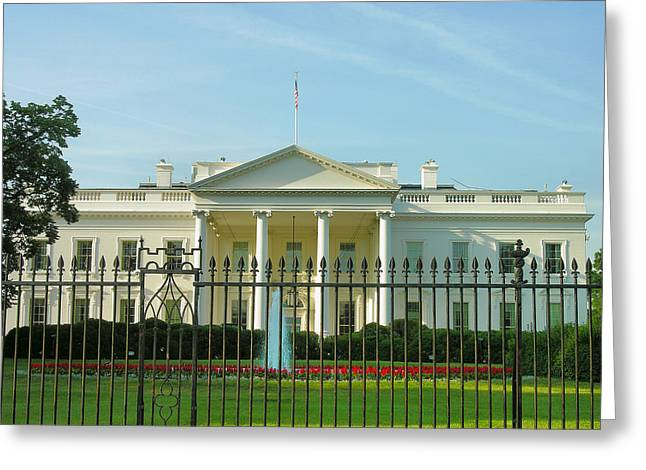 White House Prints Greeting Cards - The White House Greeting Card by Steven Ainsworth