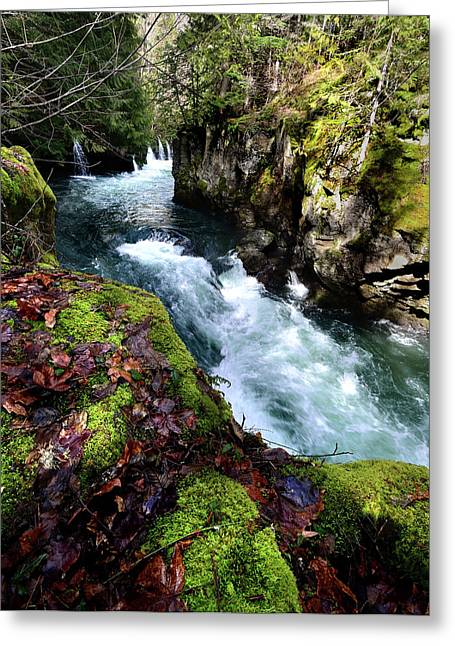 White Salmon River Greeting Cards - The White Salmon River Greeting Card by Kevin Felts