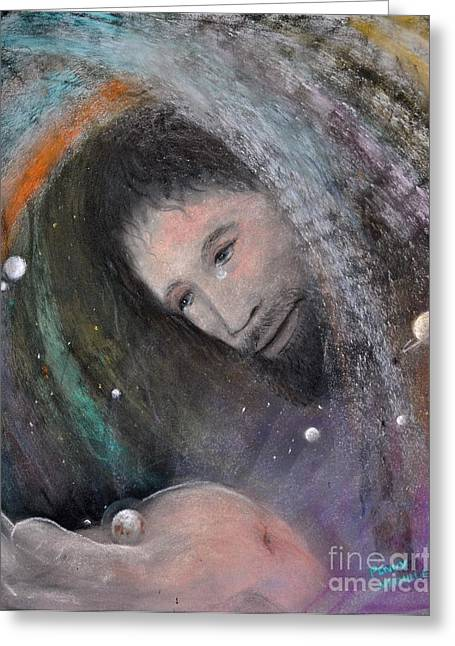 Sacrificial Pastels Greeting Cards - The Whole World Greeting Card by Penny Neimiller