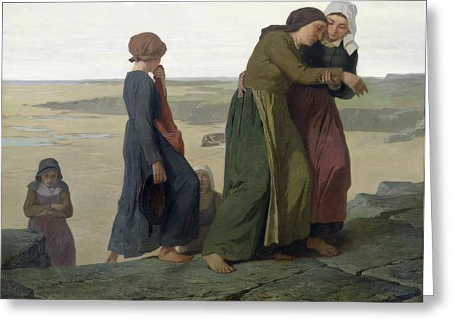 Best Sellers -  - Distraught Greeting Cards - The Widow Greeting Card by Evariste Vital Luminais