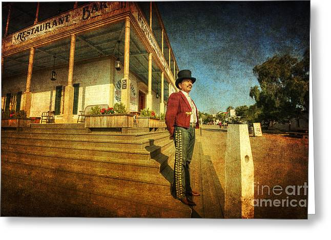 Wooden Building Greeting Cards - The Wild West Greeting Card by Yhun Suarez