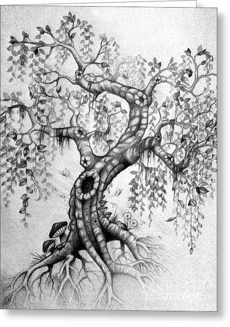 The Willow Greeting Card by Melissa Senesac