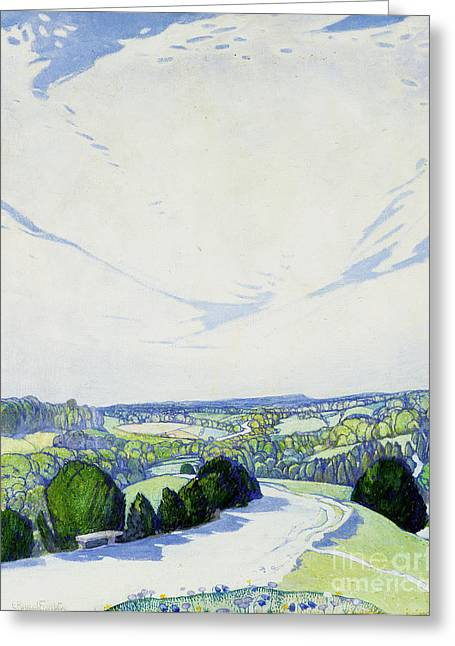 Winding Road Greeting Cards - The Winding Road Greeting Card by Edward Reginald Frampton
