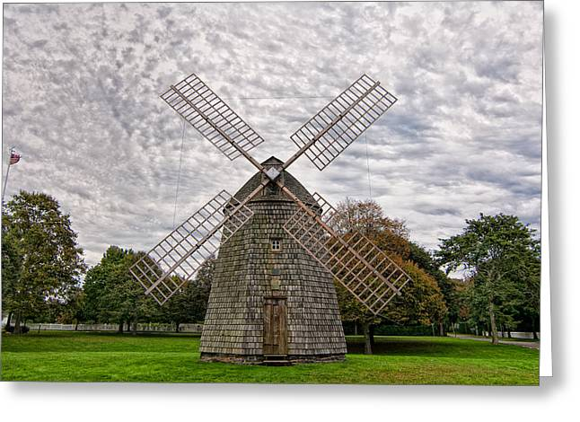 East Hampton Greeting Cards - The Windmill In East Hampton Greeting Card by Linda Pulvermacher