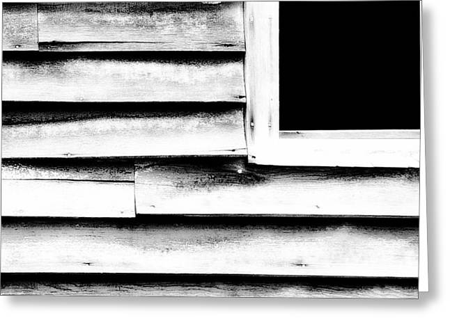 Abandoned Houses Greeting Cards - The Window Greeting Card by Bonnie Bruno