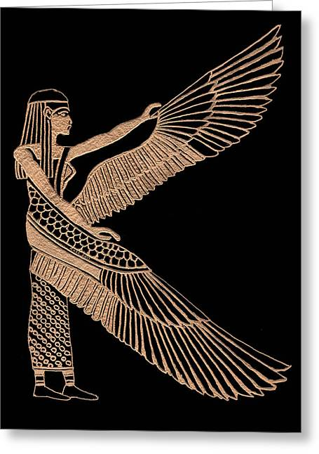 Icon Glass Greeting Cards - The Winged Isis Greeting Card by Jim Ross