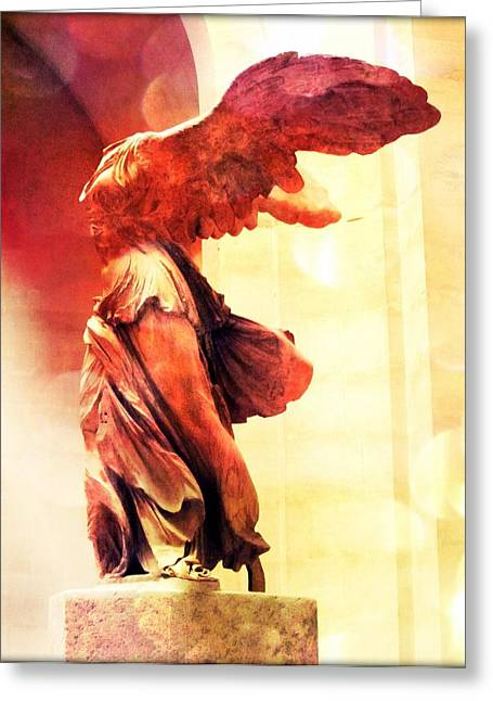 Nike Greeting Cards - The Winged Victory  Greeting Card by Marianna Mills