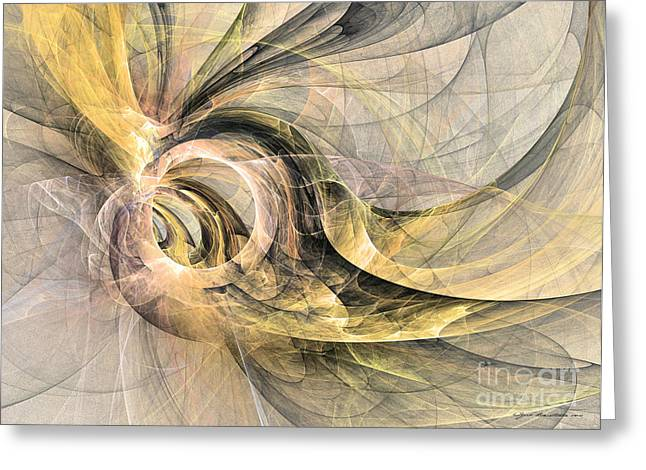 Interior Still Life Mixed Media Greeting Cards - The wings are growing - abstract art Greeting Card by Abstract art prints by Sipo