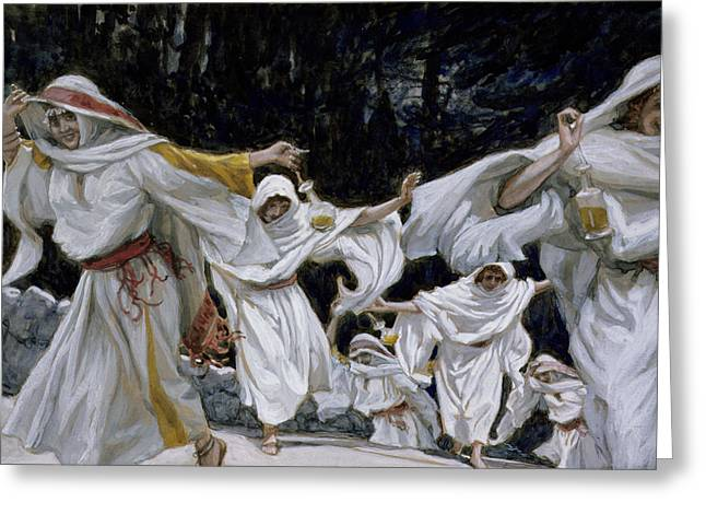 Parable Greeting Cards - The Wise Virgins Greeting Card by Tissot