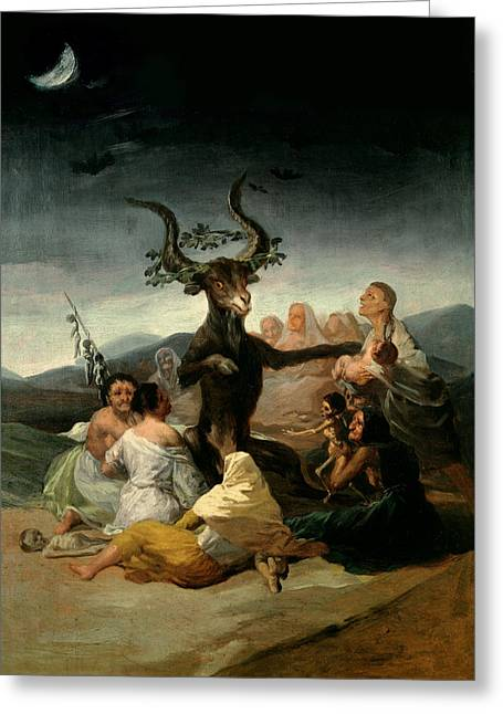 1797 Greeting Cards - The Witches Sabbath Greeting Card by Goya