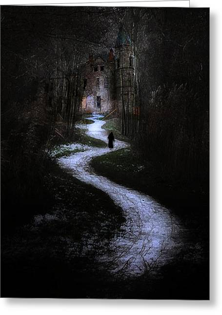 Recently Sold -  - Creepy Digital Art Greeting Cards - The Witchs House Greeting Card by Hazel Billingsley