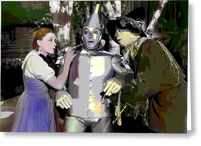 Midget Mixed Media Greeting Cards - The Wizard of Oz Greeting Card by Charles Shoup