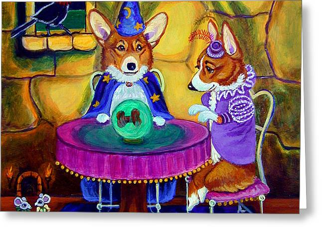 The Wizard of Pembroke - Welsh Corgi Greeting Card by Lyn Cook