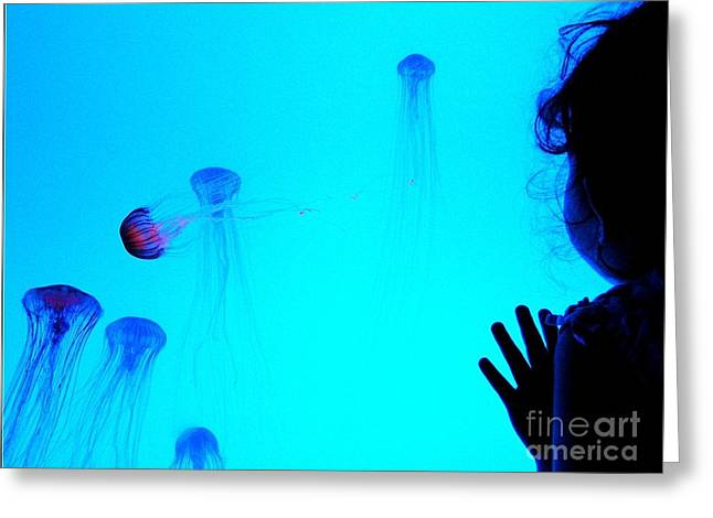 Patterned Greeting Cards - The Wonder of Jelly Fish Greeting Card by Norma Warden