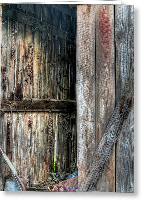 Outbuildings Greeting Cards - The Wood Shed Greeting Card by JC Findley