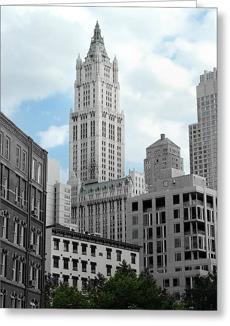 Woolworth Greeting Cards - The Woolworth Building - NYC Greeting Card by Frank Mari