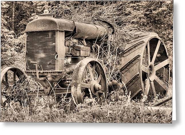 Workhorse Greeting Cards - The Workhorse BW Greeting Card by JC Findley