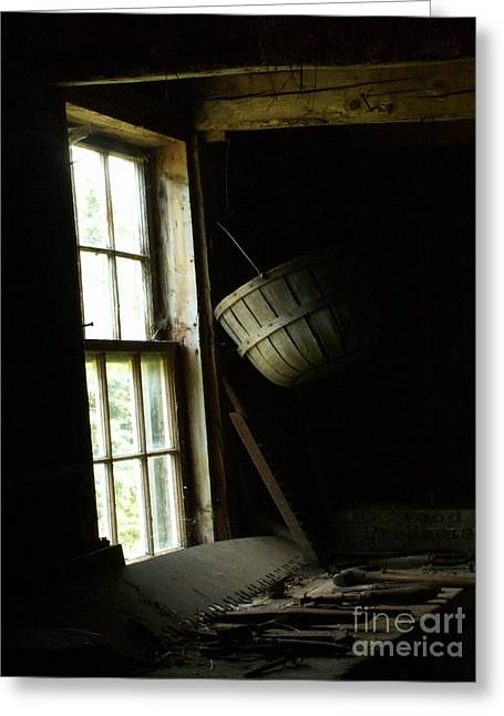 Olson House Greeting Cards - The Workshop Window Greeting Card by Theresa Willingham