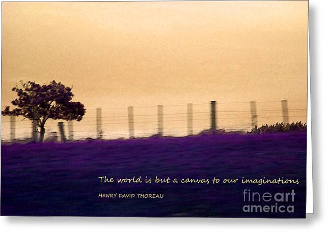 The World Is But A Canvas Greeting Card by Karen Lewis