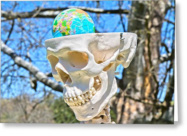 Mandible Greeting Cards - The World on My Mind Greeting Card by Betsy C  Knapp