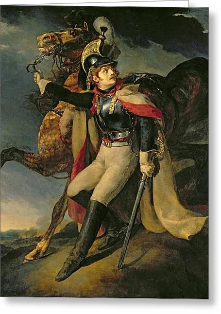 The Horse Greeting Cards - The Wounded Cuirassier Greeting Card by Theodore Gericault