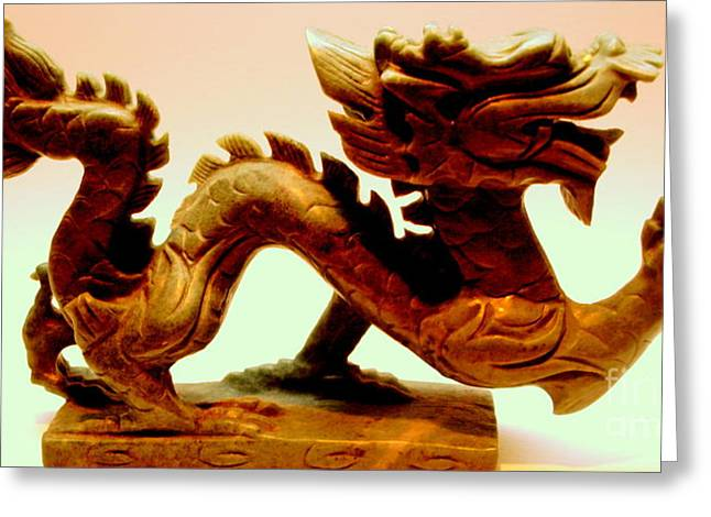 Chinese Ceramics Greeting Cards - The Year of the Dragon Greeting Card by Michael Canning